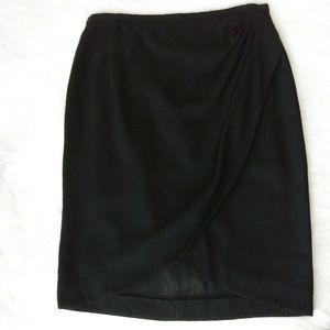 Giorgio Armani Le Collezioni Wool Skirt